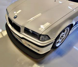 E36 BMW splitter from above