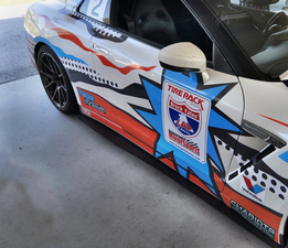 Custom Nissan R35 GTR Side Rocker Splitters for One Lap of America 2017, driven by Catesby Jones and Will Taylor