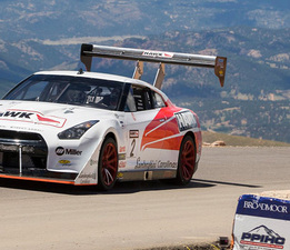 Nissan GT-R large front Pikes Peak splitter