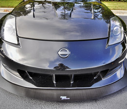 Z33 350Z with Nismo V3 front bumper, shown with custom extended projection..We can custom build any style and length!