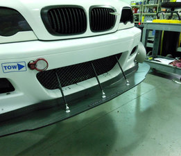 BMW E46 M3 Custom Splitter with fence